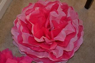 large tissue paper pomander (pink)