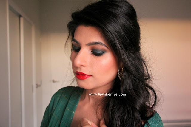 Navratri makeup NC35 Brown eyes