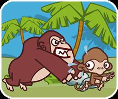 Game khỉ con trộm chuối 2, chơi game vui online