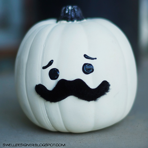 Movember Mo Party ideas pumpkin man