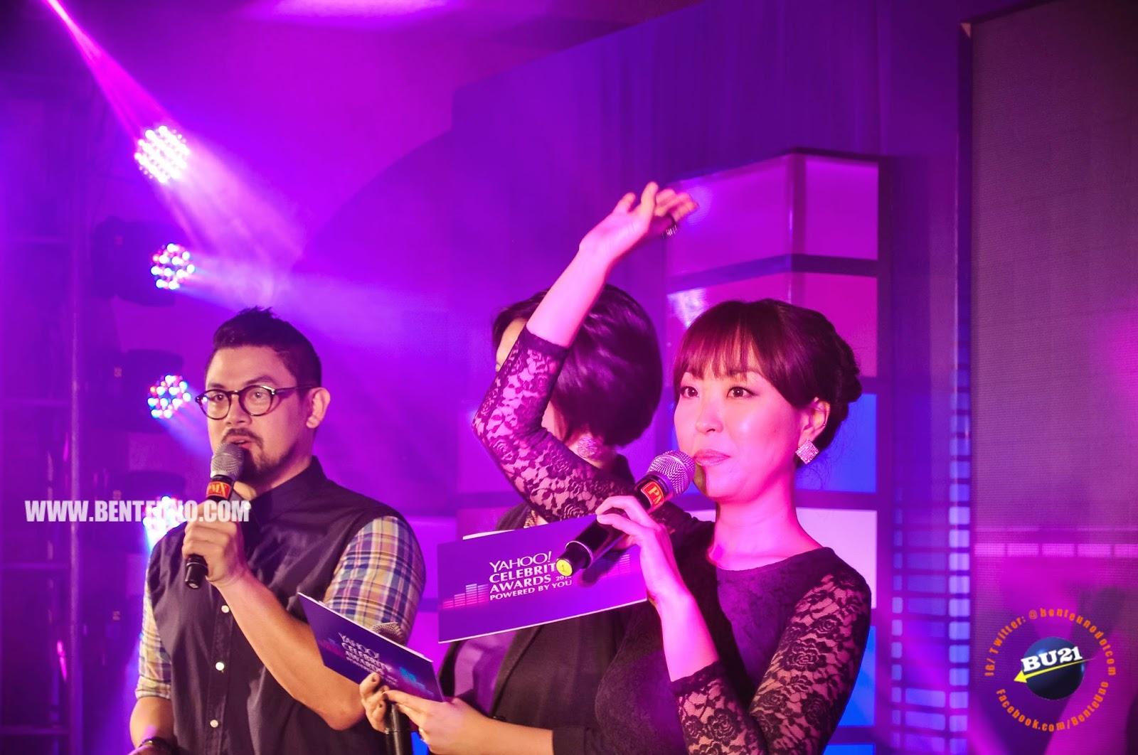 Sam Oh hosts Yahoo Celebrity Awards 2014 media launch
