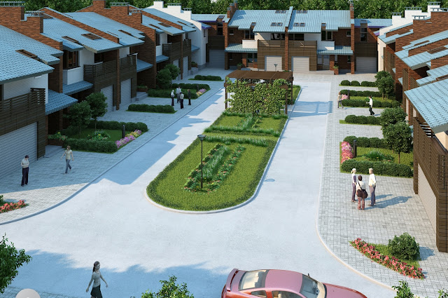3D Villas Like Bahria Town Front Elevation Housing Plan