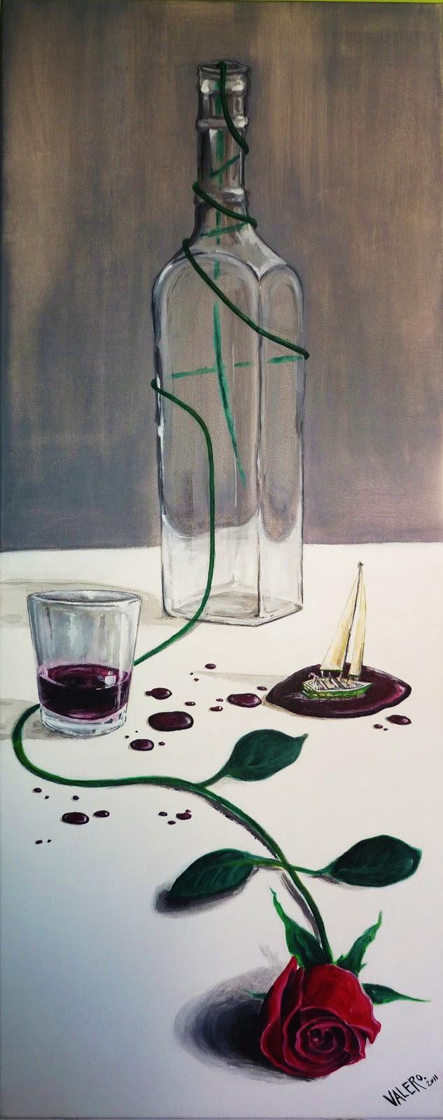 Jorge valero pintor ilustrador viento de vino y rosa - Acrilico sobre lienzo ...