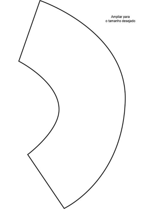 Выкройка абажура для лампы