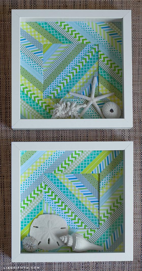 Washitapera: Decora el fondo de un marco Ribba de Ikea con washi tape