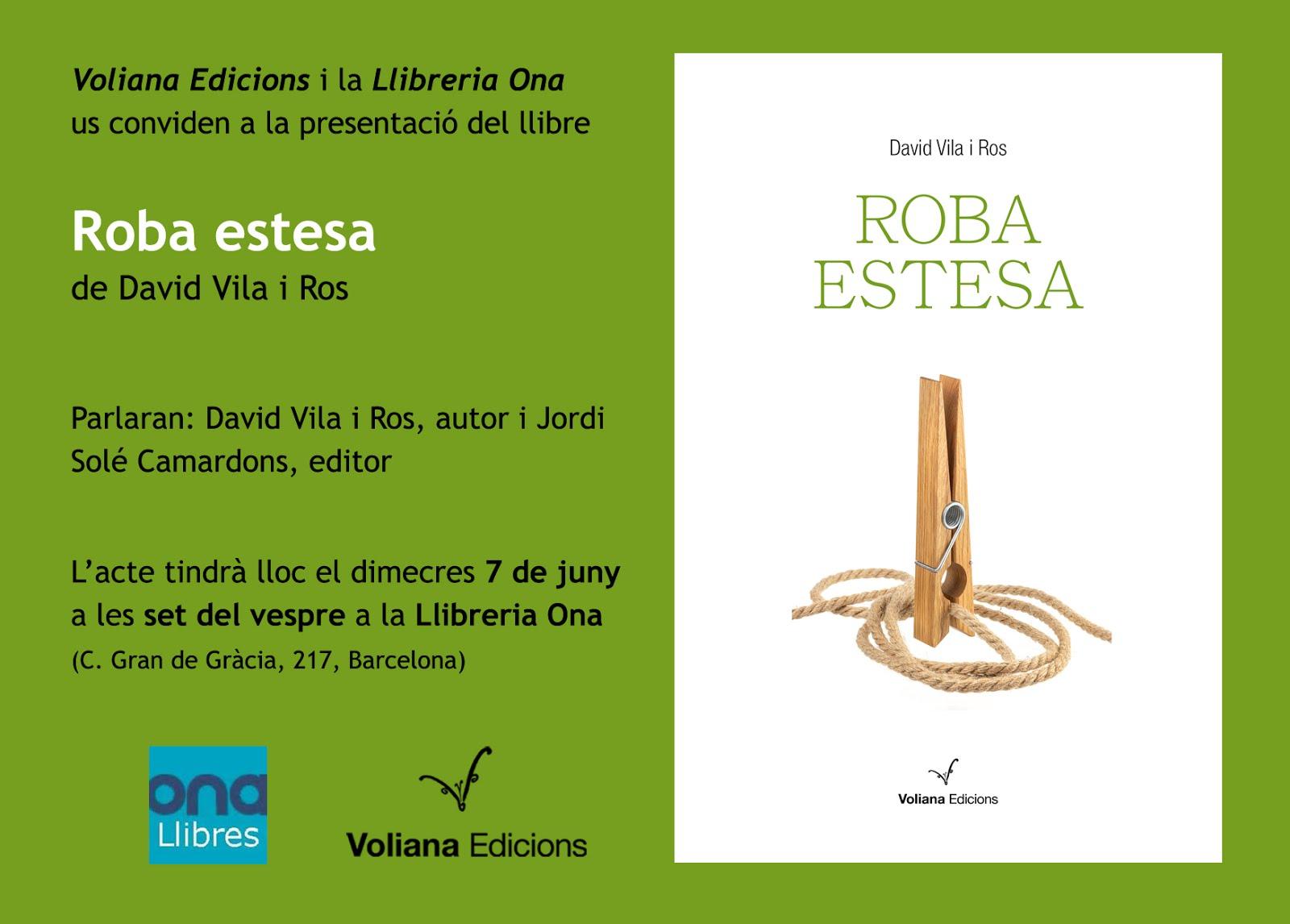 Presentació 'Roba estesa' a la Vila de Gràcia