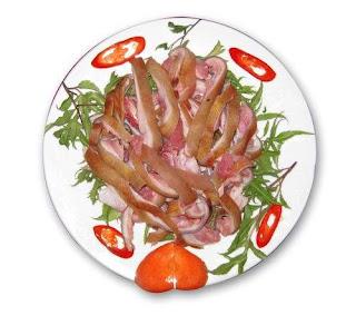 Món ăn ngon: thịt dê hấp tía tô