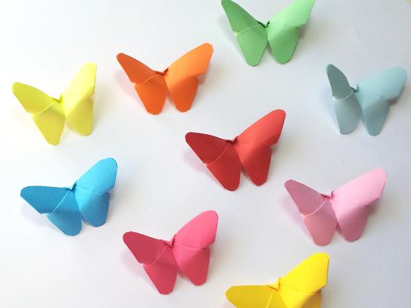 Mariposas de papel - Como hacer mariposas de papel para decorar paredes ...