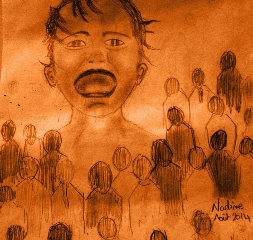 Nadine Labaki's depiction, art & Facebook Post