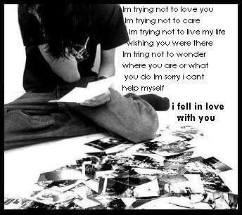 Sad boy crying in love alone