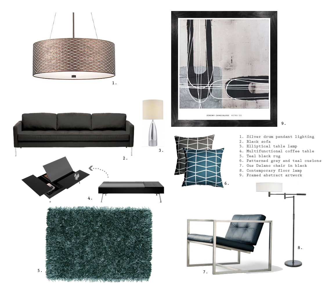 christina.miss.creative: THE ULTIMATE BACHELOR PAD... living room
