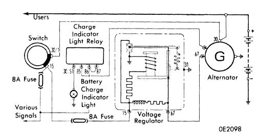 datsun 240z alternator wiring diagram