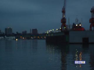 Atardecer en el puerto de Mar del Plata