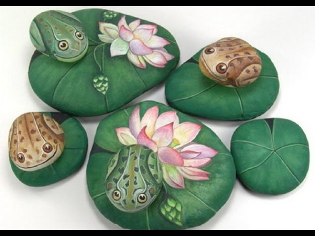 Interesting ideas for decor: Ideas for the garden. Drawings on the Stones. ИДЕИ ДЛЯ САДА. РИСУНКИ НА КАМНЯХ