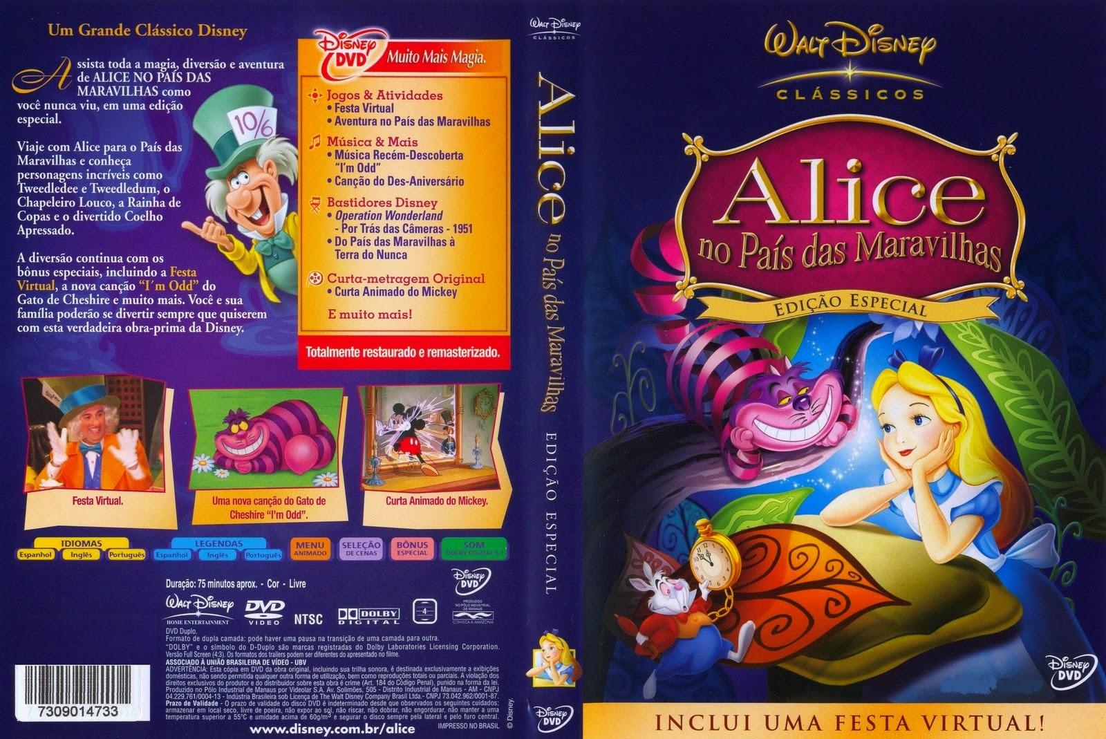 Alice No País Das Maravilhas DVD Capa