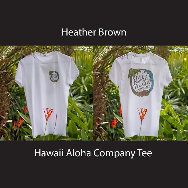 hawaii tee aloha mahalo h brown