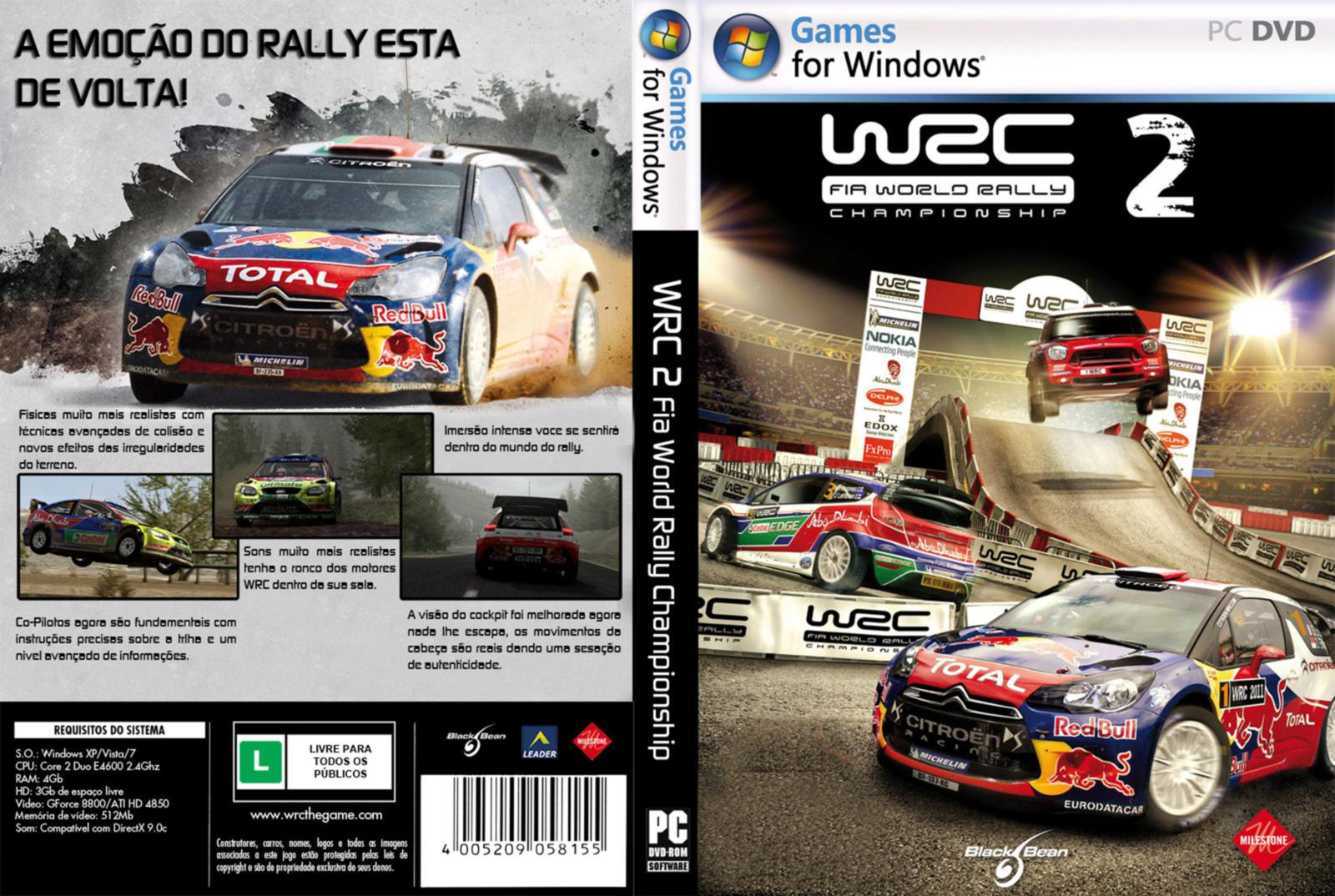 Capa WRC - Fia World Rally Championship 2 PC