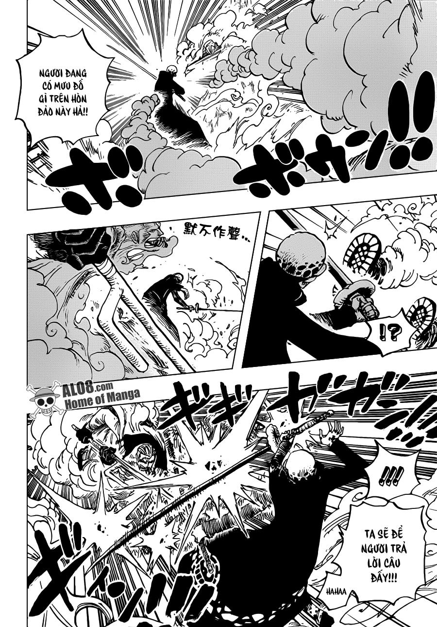 One Piece Chapter 662: Thất Vũ Hải Law vs. Phó Đô Đốc Smoker 016