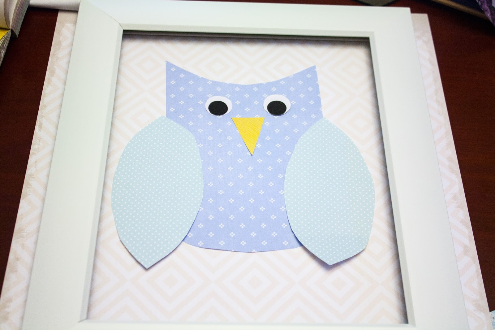 Sgt. Pepper\'s Kitchen: \'Owl Always Love You\' Scrapbook Paper Frame