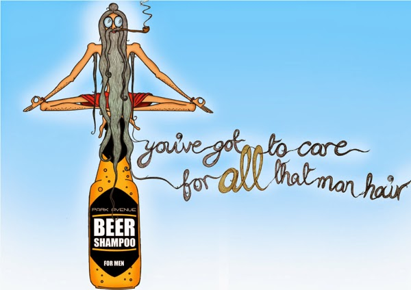 Funny Ads of Park Avenue Beer Shampoo by Aparna Badgandi vie Behance.net