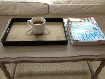 coffee table, paint, french linen