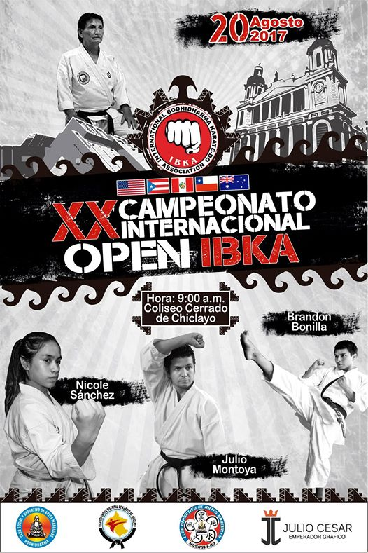 "XX CAMPEONATO INTERNACIONAL  ""Open IBKA 2017"" Chiclayo-Perù"