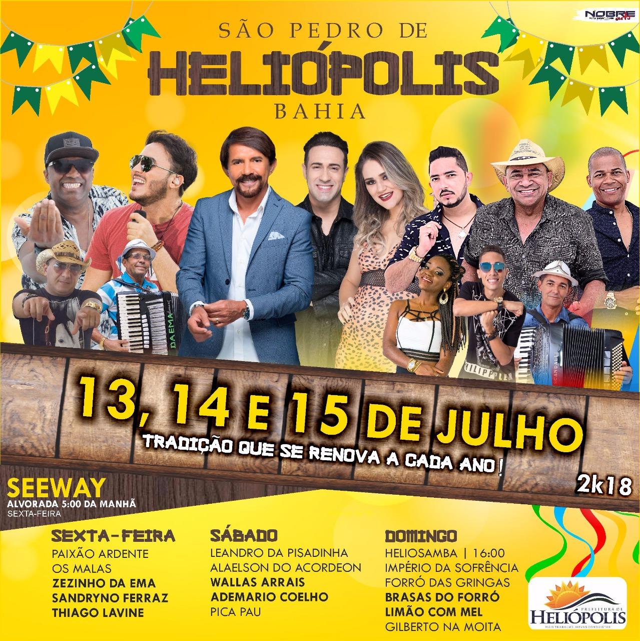 FESTA DO SÃO PEDRO DE HELIÓPOLIS BAHIA
