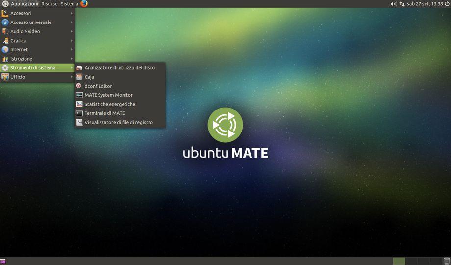 Ubuntu Mate layout default