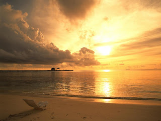 Beach Sunset 3D HD Wallpaper at freewallpaper01