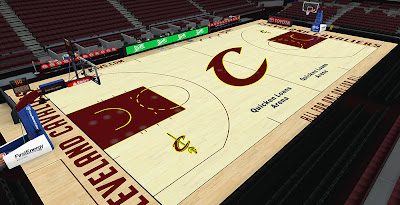 NBA 2K14 Cleveland Cavaliers HD Court Mod