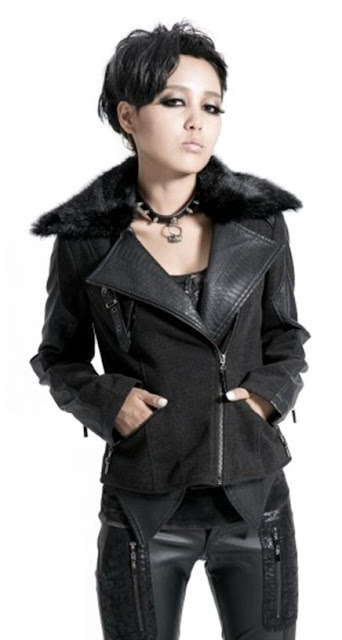 Fashion Black Gothic Punk Jacket for Women