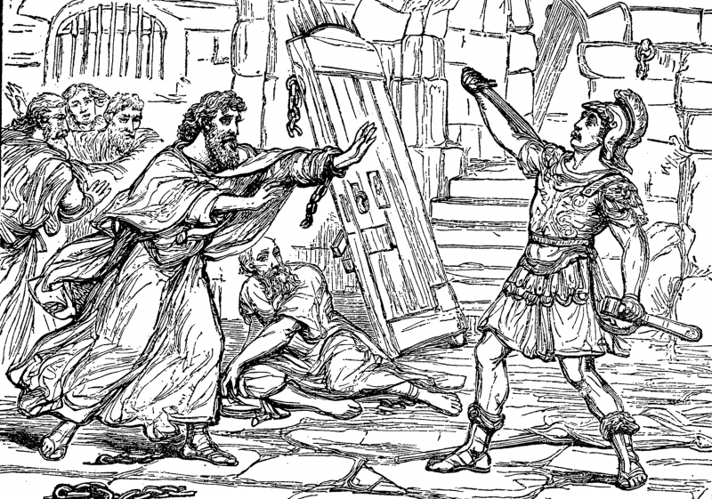 the philippian jailer coloring pages - photo#5