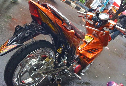 Modifikasi Honda Beat Vs Modifikasi Vario Terbaru