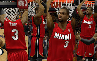 NBA 2K13 Miami Heat Red Jersey Mod