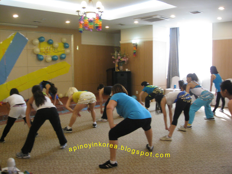 A pinoy in korea zumba in zeoul for Sideboard zumba