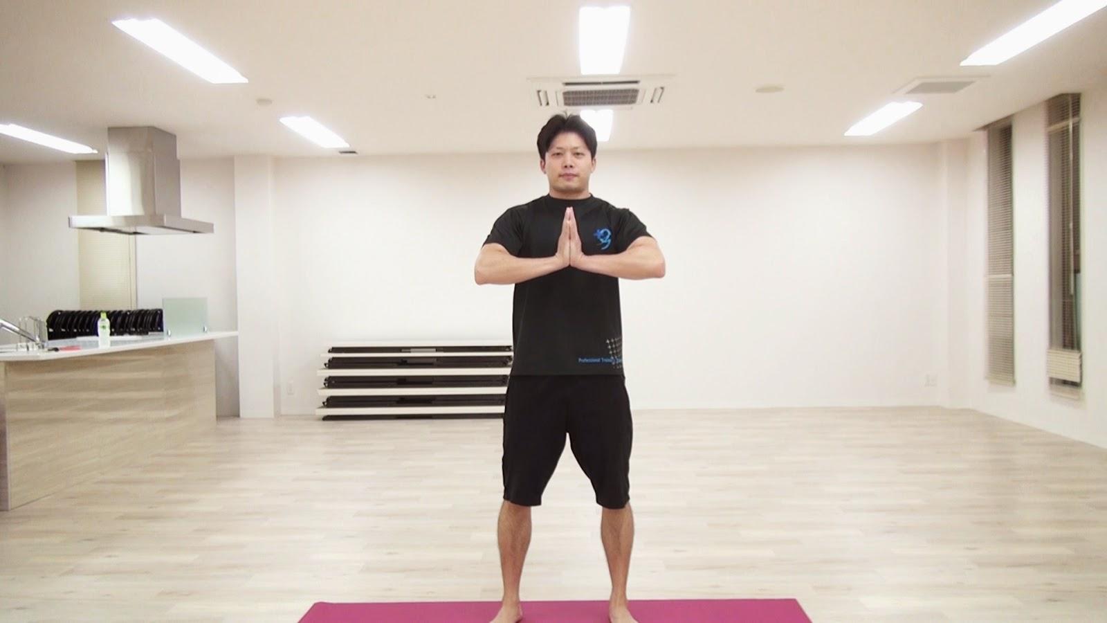胸のトレーニング(真ん中)