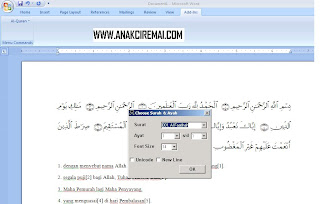 Al-Qur'an in Word 2007