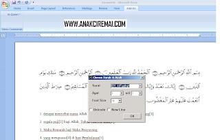Al-Qur'an in Word 2007