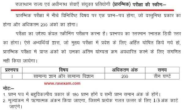 ras exam papers in hindi pdf