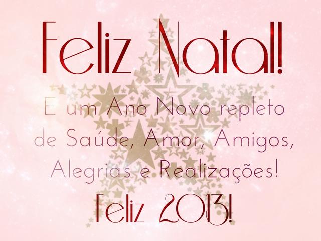 Feliz Natal e especial 2013!