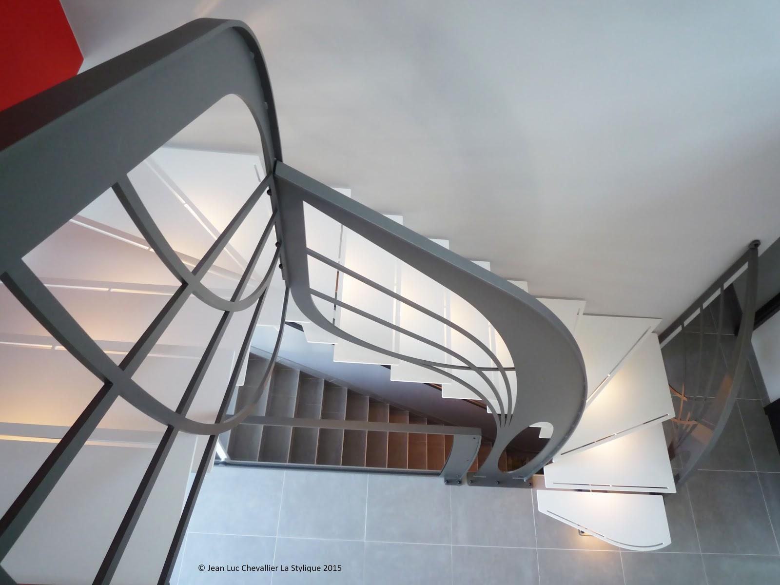 La stylique escalier double quart tournant sculpture - Escalier double quart tournant ...