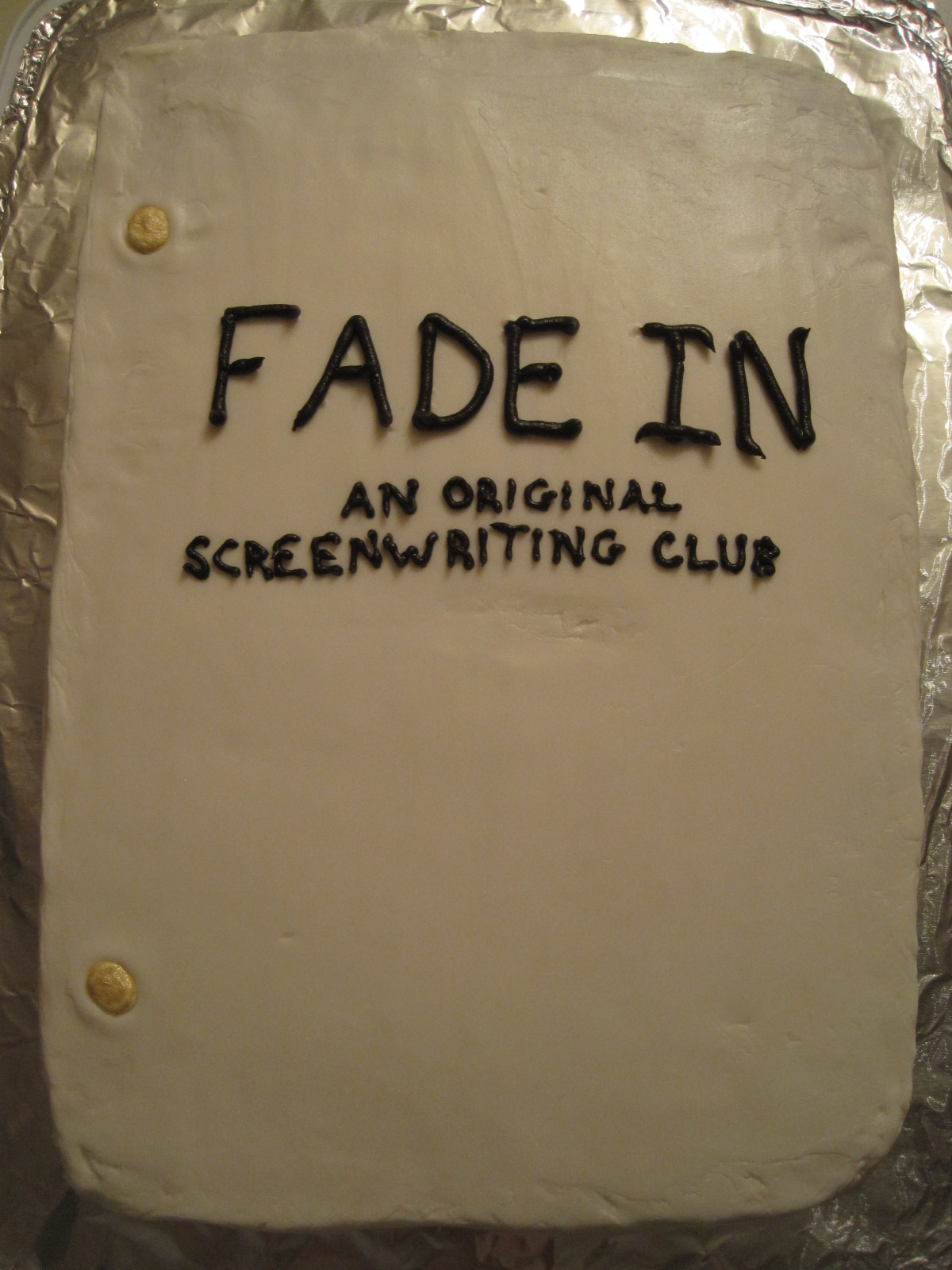 the creative cake maker fade in movie script cake