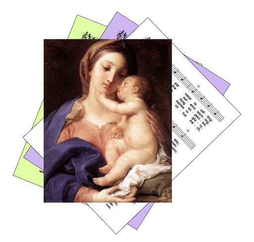 Mary with Baby Jesus - for the feast of Mary Mother of God