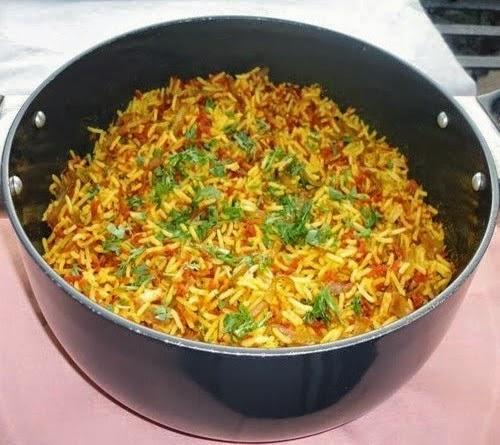 Gajar pulao ready to serve