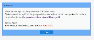 Update Dapodikdas Versi 4.0.3