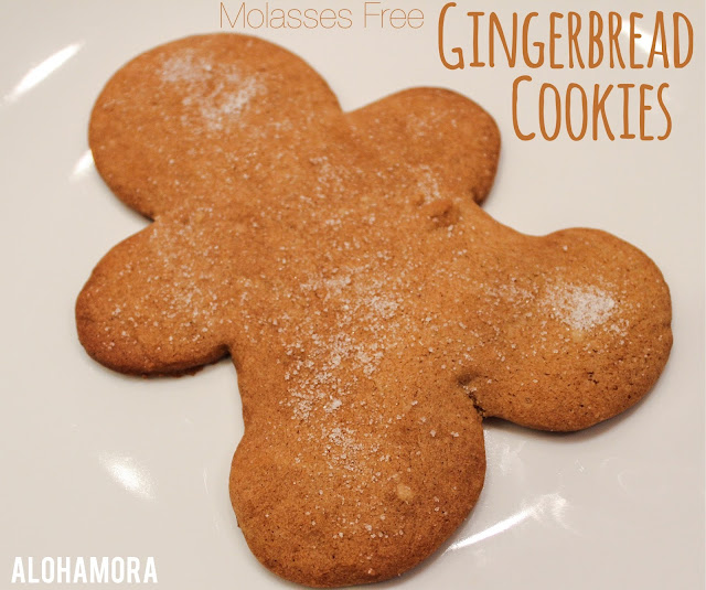 Molasses Free Gingerbread Cookies.  These cookies are a cross between graham crackers and gingerbread cookies.  Absolutely delicious! Easy to make. Fun baking with kids. Alohamora Open a Book www.alohamoraopenabook.blogspot.com easy holiday festive christmas cookies, neighbor gifts, children, gingerbread men.