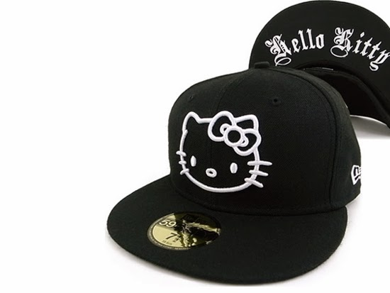 Gambar Topi Hello Kitty Lucu Imut Hitam Black Hat Hello Kitty