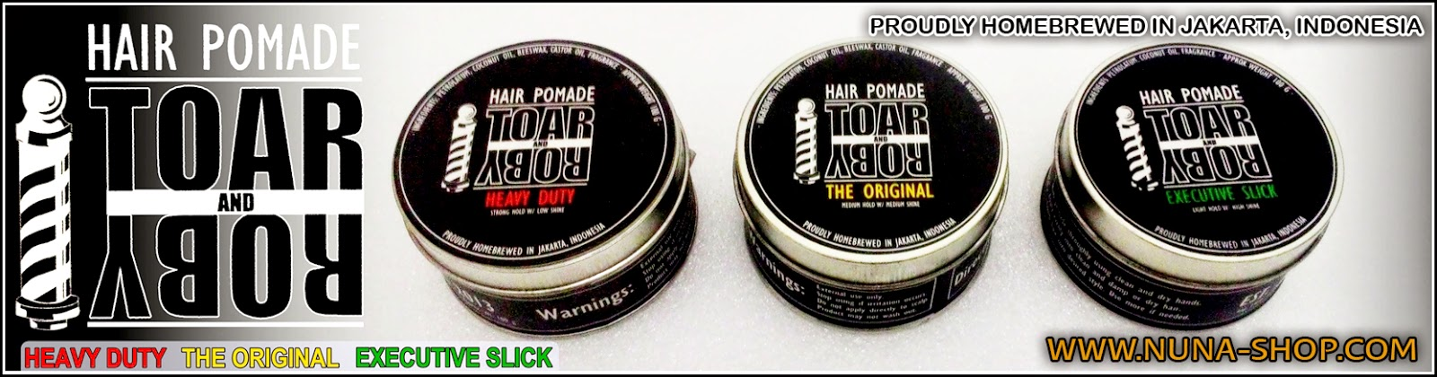 Toar And Roby Pomade - TnR Heavy Duty Pomade - TnR The Original Pomade - TnR Heavy Executive Slick