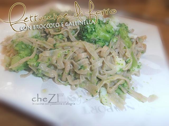 fettuccine di farro con broccolo e gallinella