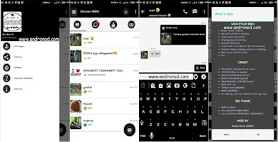 BBM Mod v2.9.0.51 Tema Material Design Simple Black & White Apk